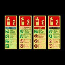 Estintore ID Photoluminescent plastica segno o Adesivo-tutti i materiali