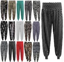 Nuevas damas Alí Babá Polka Dot Printed Harem Pantalones Pantalones Bombachos estilos spoty