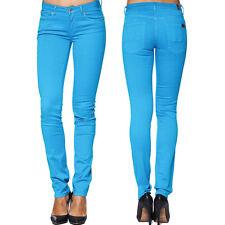 7 SEVEN for all Mankind Damen Jeans Hose CRISTEN - Gum Cap Blu Türkis Blau NEU