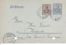 Ganzsache Postkarte DR P70 gel. Scher...?  nach Karlsruhe Baden Württemberg