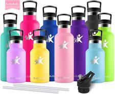 Gourde Inox Isotherme, Bouteille d'eau avec Paille  Filtre sans BPA Double Paroi
