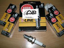 Bujias ngk V line 6 para Opel Corsa B 1,2 i + 1,4 I si 4x bujía SW 20,8mm