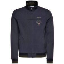 AERONAUTICA MILITARE FELPA Full Zip FE1305 FRECCE TRICOLORI Blu Design Fashion
