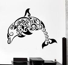 Wall Decal Dolphin Ocean Marine Sea Ornament Tribal Mural Vinyl Decal (z3302)