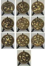 Damascene Gold Bird & Flower SMALL Round Decorative Plate by Midas Toledo Spain