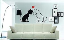 CAT & DOG & Amore Cuore Muro ARTE Adesivo, Murale, Decalcomania, Adesivo, 3 x Taglie