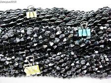 Healing Natural MAGNETIC Black Hematite Gemstone Bicone Beads 16'' 6mm 8mm 12mm