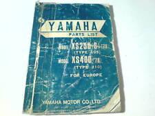 Ersatzteilliste / Spare Parts List Yamaha XS250 / XS400 78 Stand 09/1977