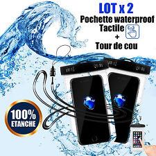 Pack-2 SAC HOUSSE POCHETTE WATERPROOF ETANCHE POUR SMARTPHONE IPHONE 4,5,6,7 +