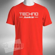 Techno drogadicto para hombre T Shirt Festival de Música Electrónica Dance Rave