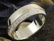 925 Silberring  mit Zirkonia Steinen  Ringbreite 7 mm