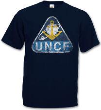 UNITED NATIONS COSMO NAVY UNCF LOGO T-SHIRT - Space Battleship Yamato 2199 Shirt
