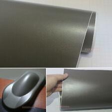 Grey Matte Car Part Interior Leather Grain Texture Film Vinyl Wrap Sticker AB