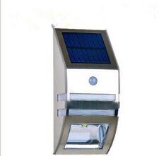 SW Solar Powered Bright Led Wireless PIR Motion Sensor Security Steps Wall Light