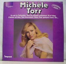"""33 tours Michèle TORR Disque LP 12"""" CE SOIR JE T'ATTENDAIS - IMPACT 6886215"""