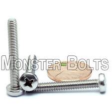 M4 x 30mm  Stainless Steel Phillips Pan Head Machine Screws, Cross Recessed A2