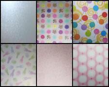A4 Patterned Paper Doilies Music Swirls Lollypop Baby Hand Feet Metallic Mint