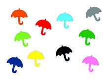 10x Bügelbild Bügelbilder Aufnäher Patch Miniblings GLATT Regen 25mm Schirm
