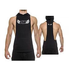 """Bodyworks Stringer Tank mit Kapuze """"Wings"""" Bodybuilding Shirt Herren Fitness"""