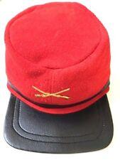 Rebel GUERRA CIVILE 100% pelle scamosciata cap hat regolabile