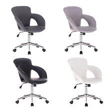 Chaise de bureau pivotant en lin / similicuir Chaise d'ordinateur réglable f258