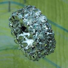 2016 Luxury Platinum Plated Wedding Band High Quality Cubic Zirconia Ring 7,8,9