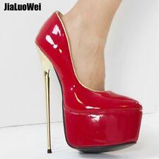 Womens Shoes 22CM Platform Patent Leather Stiletto Nightclub Patent Leather Sexy