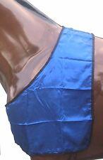 Satin  BIB / Horse Rug Shoulder Guard, Mini, Cob & X-Full - Blue   *NEW