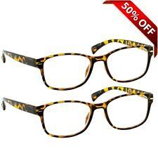 NEW Reading Glasses For Men and Women | 2 Pack Readers in Tortoise