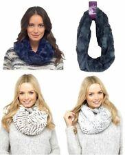 Ladies foxbury Lusso Con Texture Super Morbido Caldo Sciarpa in pelliccia sintetica basso di lenza