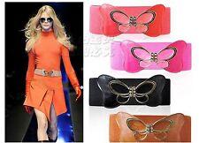Women Lady Butterfly Bow Ribbon Dress Elastic Stretchy Waist Belt Wrap TIE G025