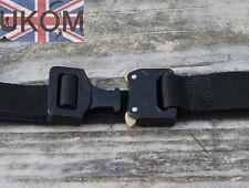"UKOM Lightweight 1"" AustriAlpin Cobra Buckle Black Belt All sizes  (25mm Tactica"