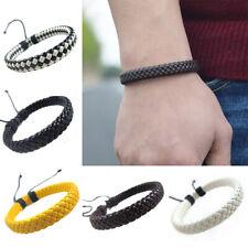 Boy Bracelet Men Hand-woven Simple Multi-color Fashion Unisex  Bangle  Leather