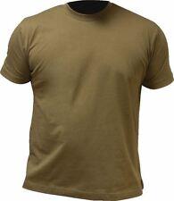 Highlander PRO Force 100% de algodón de cuello redondo de la Camiseta S-XXL, verde oliva, desierto Tan