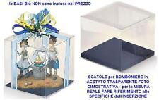 N.20 SCATOLA per BOMBONIERA Cm.10x10x19H in ACETATO TRASPARENTE a SCATTO 94045