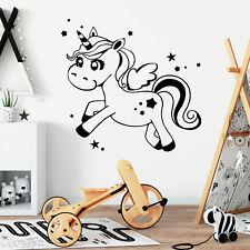 Pegatina Pared Unicornio Estrellas 10377 caballo Vivero de Etiqueta Regalo