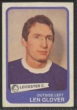(ar89) ABC Gum, Footballers, Yellow #37, Len Glover, Leicester City 1968 VG+