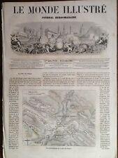 LE MONDE ILLUSTRE 1861 N 240 PLAN TOPOGRAPHIQUE DE LA VALLEE DES DAPPES