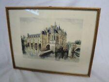 Colorierte mostrarían castillo francia firmado *