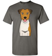 Smooth Fox Terrier Dog Cartoon T-Shirt Tee - Men Women Youth Tank Long Sleeve