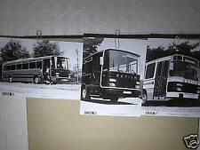 3 FAC SIMILES 1994 DE PHOTOS DE PRESSE BUS ET CARS 1978 SAVIEM