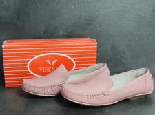 VISENIYA Damen Schuhe Slipper Mokassin rosa rose pink Gr 36 - 41 NEU