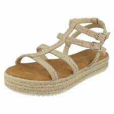 Savannah Ladies Ankle Strap Rope Sandals