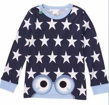 Fred's World Langarmshirt allover Sterne und Frosch 104 110 116 122 128 134