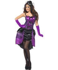 Sexy Halloween Adult Purple Burlesque Lolita Darling Cabaret Dancer Costume