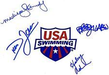USA SWIMMING SIGNED 8X10 PHOTO DARA TORRES BREEJA LARSON +2 OLYMPICS PROOF COA