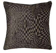 wg01a Dark Brown Geometric 3D Check Cotton Throw Pillow Case Cushion Cover*Size