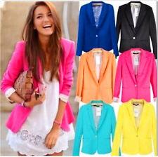 NEW Women's CANDY Color Blazer Jacket Suit OFFICE Lady's Jacket Fancy Coast