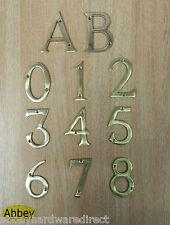 "3"" Brass House Number Front Door Buildings Numeral Modern Back Door Porch New"
