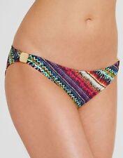 EDA London Allegra Classic Bikini Brief Slider Swimwear Green Red Multi Stripe